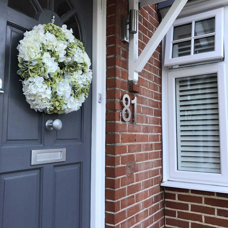 Hydrangea Wreath Faux Flowers