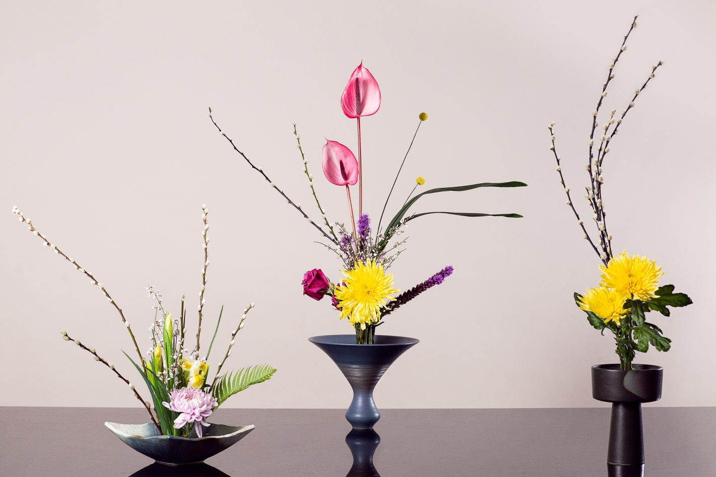 Ikebana Grouped Arrangement