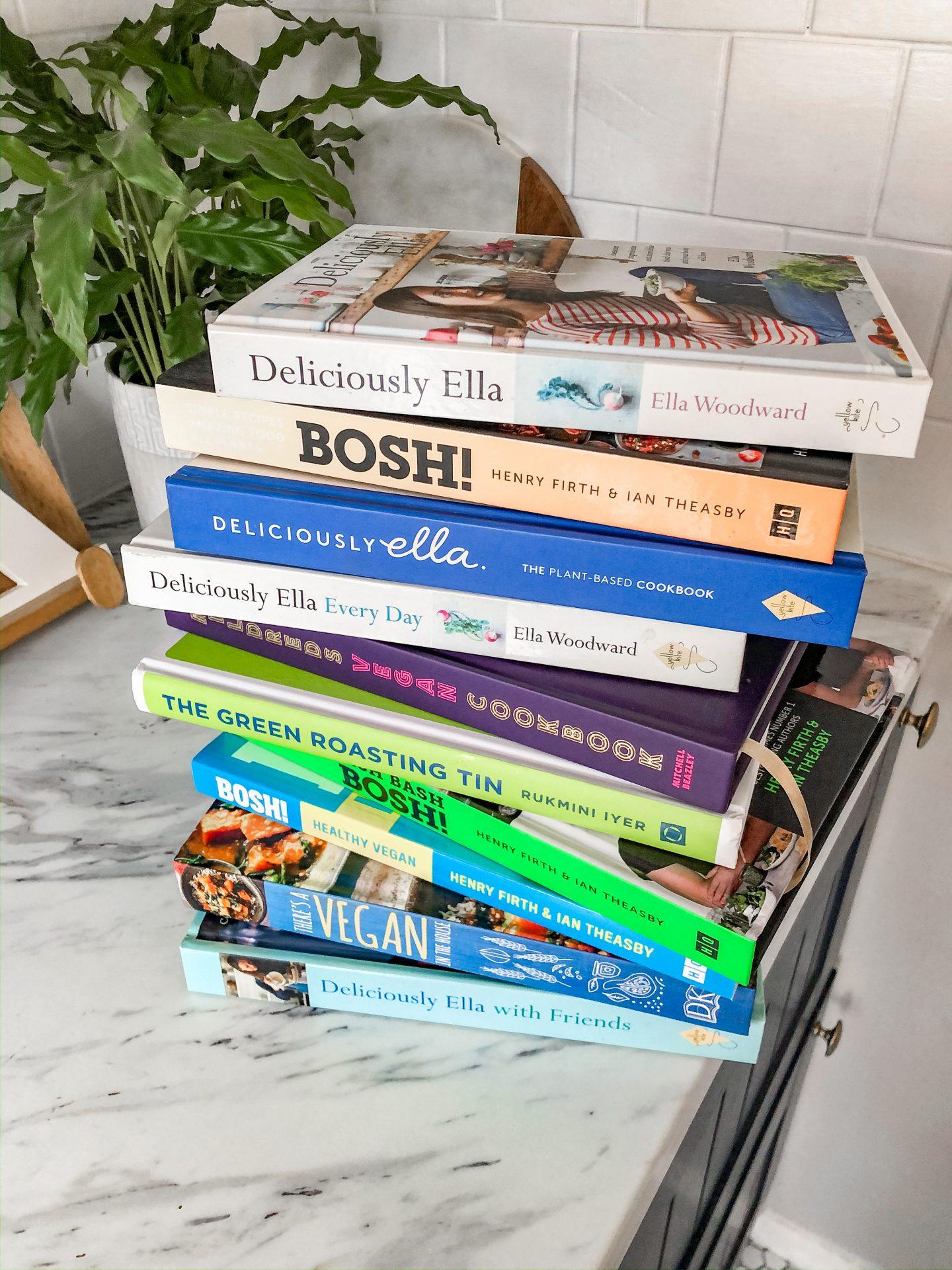 Vegan Cook Book Pile