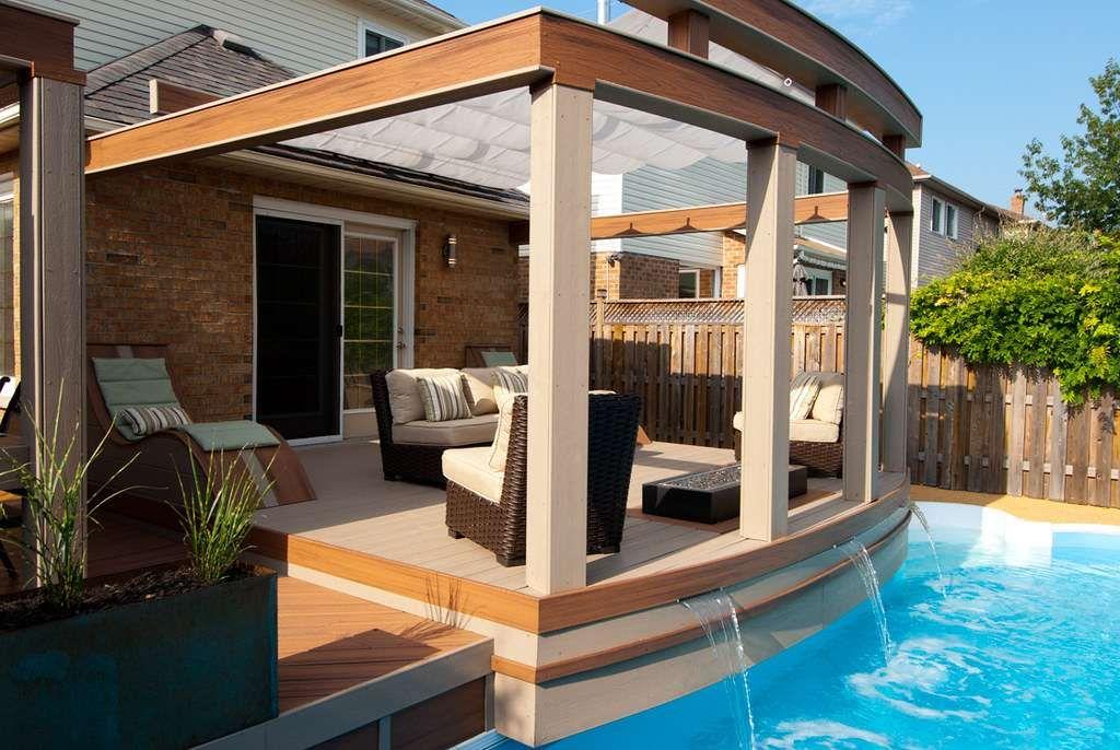 trex decking pool